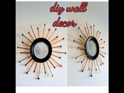 Diy wall decor idea. Diy wall hanging crafts. foam plate wall art. Amazing pixies