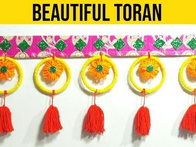 DIY Woolen Door Toran | Best Out Of Waste Wool And Bangles | Wool Craft Idea | Door Hanging Toran