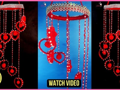 DIY Woolen Wind chime out of waste plastic bottle.Wool Wind Chime.Craft idea out of wool