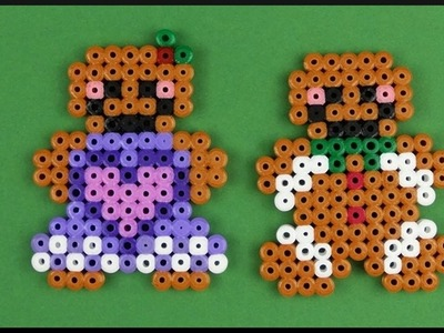 DIY | Xmas Gingerbread Man and Woman Perler Beads | Bügelperlen Lebkuchenmann Lebkuchenfrau