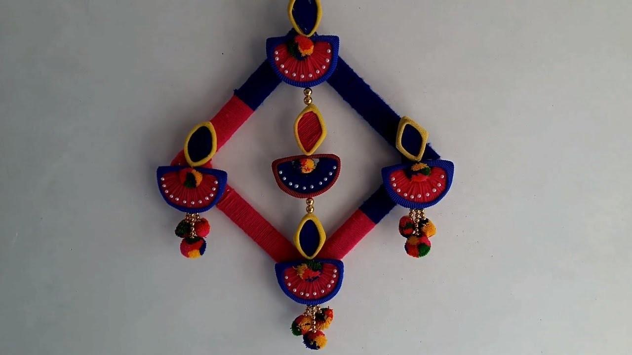 Diya Decoration Idea For Diwali Diy Wall Hanging Crafts Room