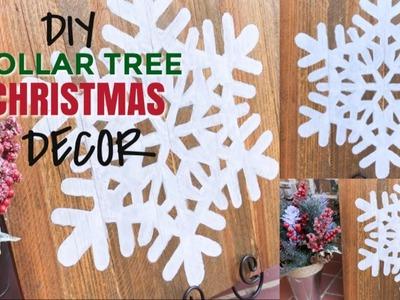 DOLLAR TREE CHRISTMAS DIY | RUSTIC FARMHOUSE CHRISTMAS DECOR ????❄️