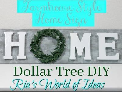 Dollar Tree DIY | Farmhouse Style Home Sign | Home Decor | Budget