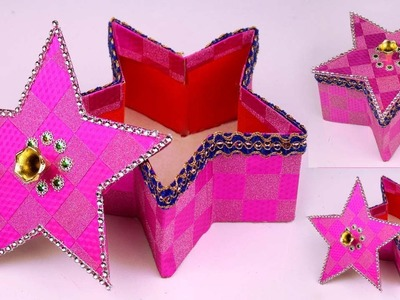 Easy DIY Christmas Gift Basket Ideas at Home || DIY Star Shaped Best Out of Waste Basket Craft Ideas