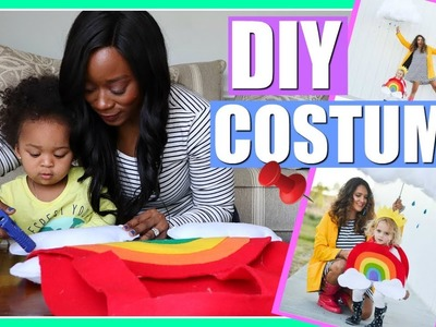 EASY DIY HALLOWEEN COSTUME IDEAS FOR KIDS | RAINBOW PINTEREST COSTUME | NIA NICOLE