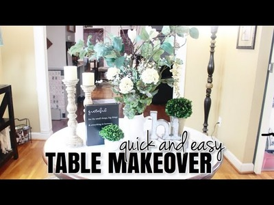 EASY Table Makeover! | DIY On A Budget | At Home With Quita