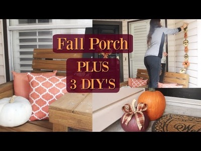 FALL PORCH DECOR 2018 | PLUS 3 EASY DIY'S | PORCH TOUR