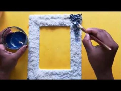 How to make Photo Frame | DIY | Rice art