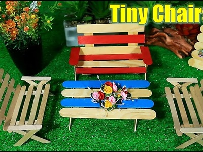 How to Make Tiny Chairs from Popsticle Sticks – Creative Crafts DIY for Kids