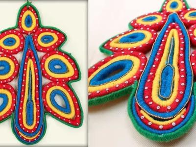 Newspaper and Woolen Craft Idea || DIY Wall Decor Showpiece Making at Home || Handmade Craft