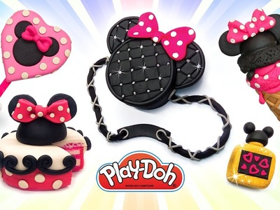 Play Doh Minnie Mouse & Mickey Mouse  Treats and Stuff. Play Doh Video Compilation. Crafts for Kids