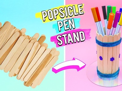 Popsicle Pen Stand - Easy 5 Minutes DIY Crafts.
