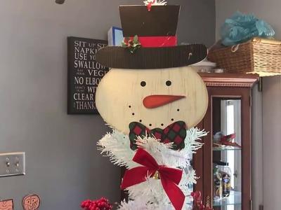Snowman Christmas Tree Dollar Tree DIY
