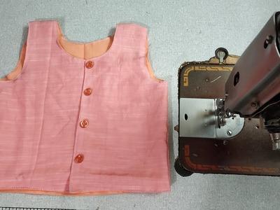 Two in One Baby Inner. Jacket   DIY   Art of clothes   बच्चों की 2 इन 1 इनर. जैकेट