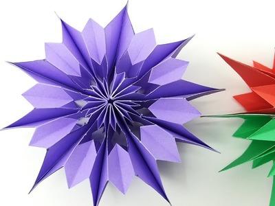 3D Christmas Snowflake - Paper Snowflake - 3D Snowflake Super Easy Making Video For Christmas