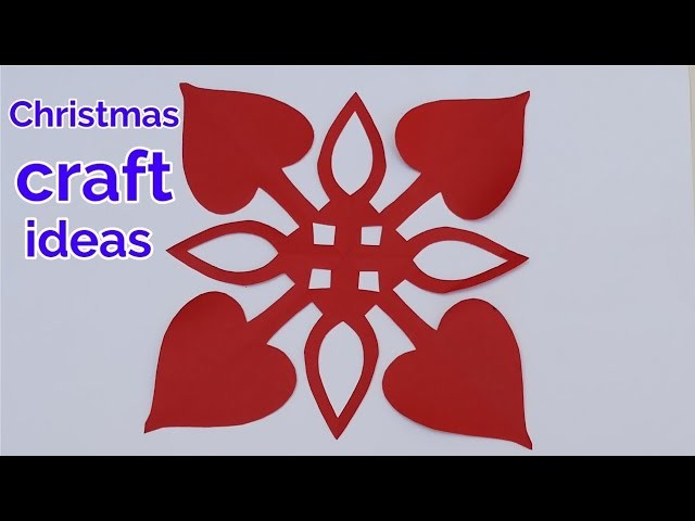 3D paper snowflakes tutorial,Christmas decoration ideas Handmade,paper cutting design,kirigami art