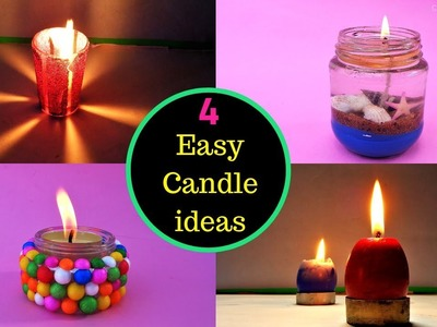 4 Easy DIY Candles | Christmas Decoration ideas