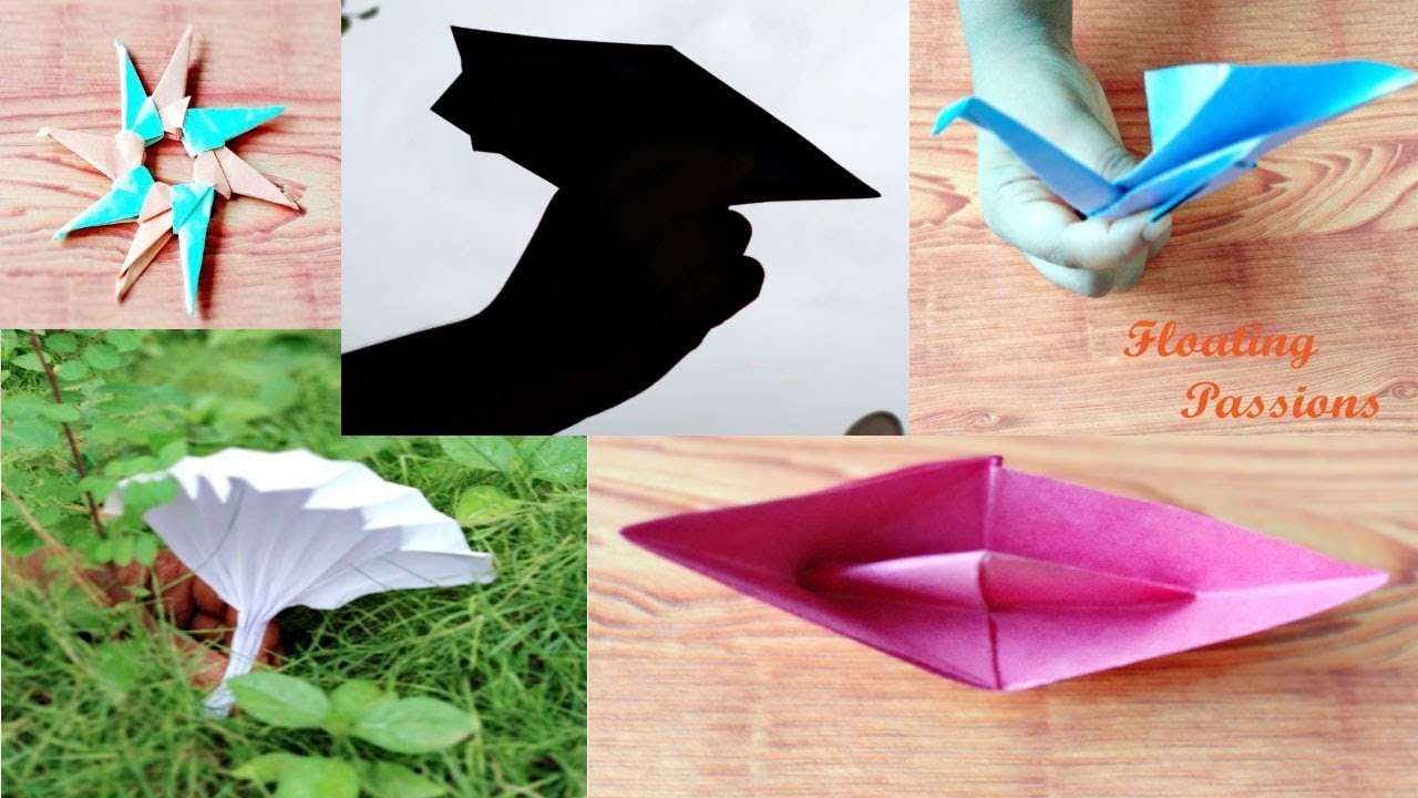 5 Easy Origami Crafts Diy Origami Easy Kids Crafts Paper Folding