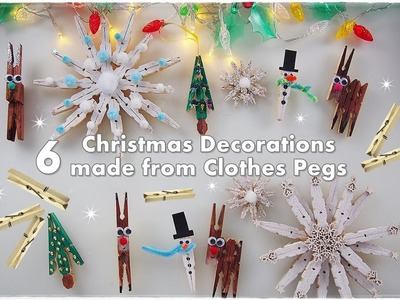 ????❄️☃️ 6 DIY Clothespins Christmas Ornaments for Kids ❀ Emily's Small World ❀