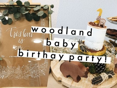 A pinterest woodland baby birthday! | DIY holiday decor | vlogmas day 3