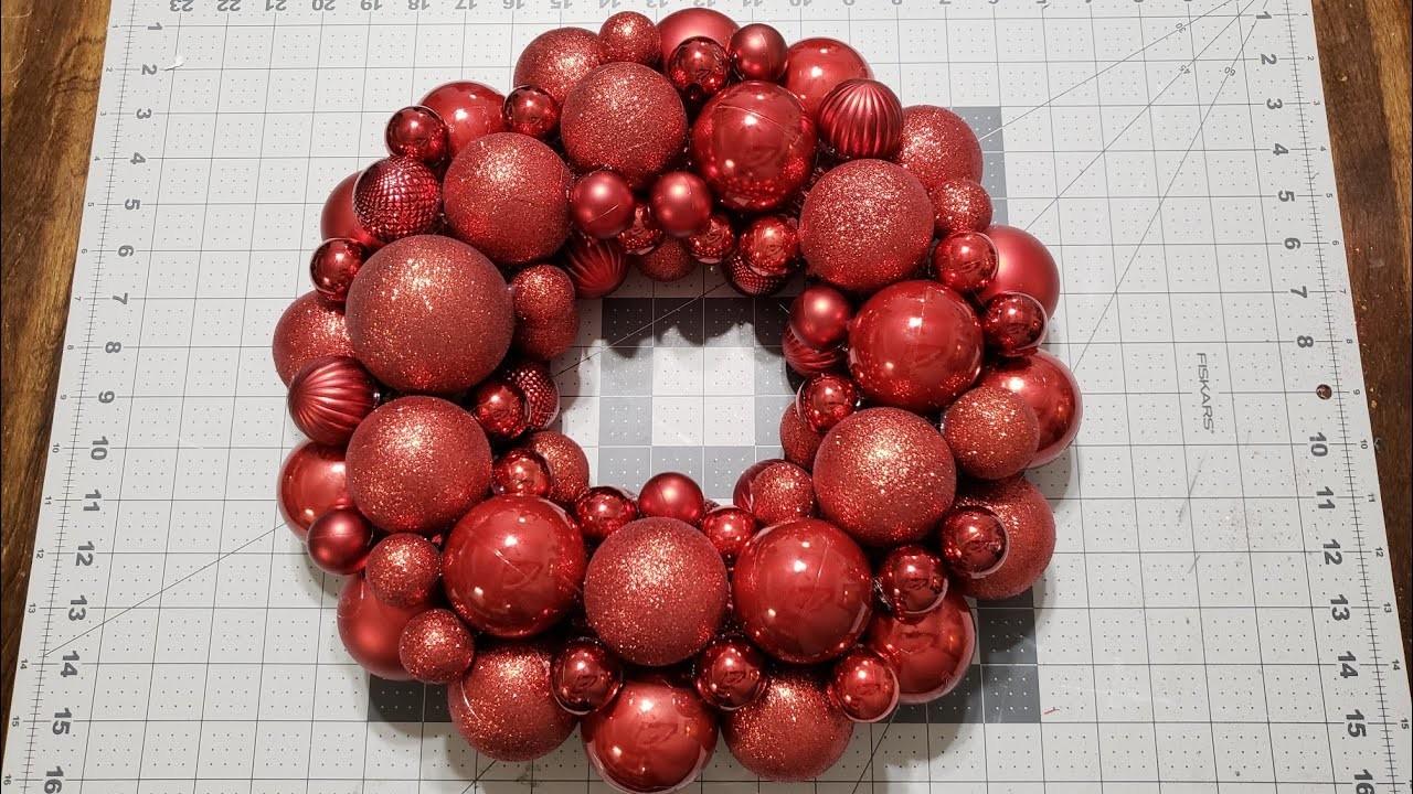 #christmaswreath #diywreath #dollartree  Diy Christmas Wreath.Dollar Tree