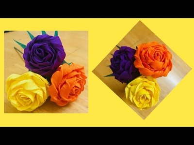 Crepe paper flower making very easy