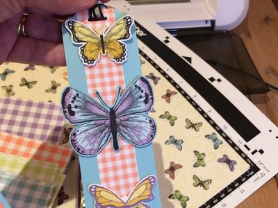 Cutting Patterned Paper - Brother ScanNCut- Botanical Butterfly - Occasions Catalog Sneak Peek