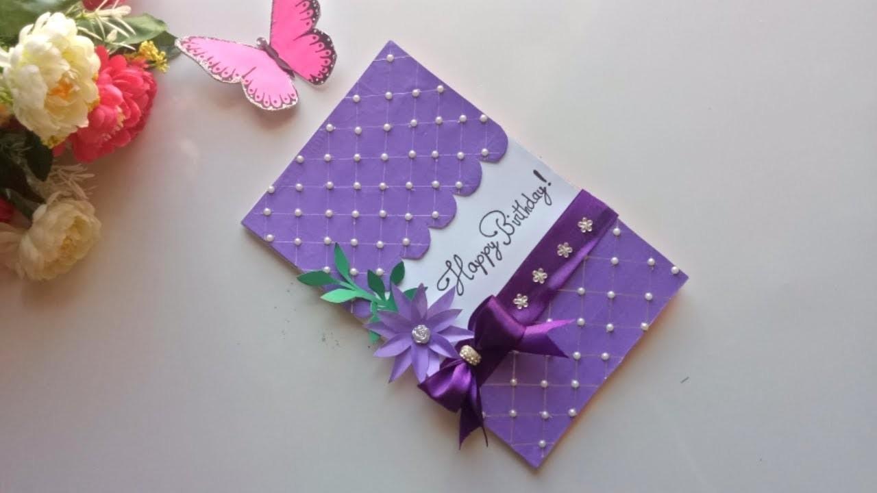 DIY Beautiful Birthday card.DIY Greeting Card for Birthday