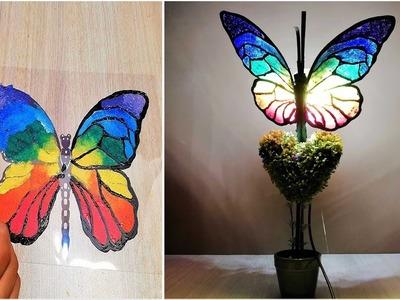 DIY Butterfly Night Lamp. room decor