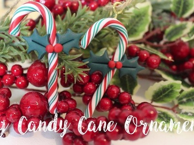 DIY Candy Cane Christmas Decorations | Polymer Clay Ornaments