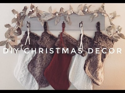 DIY CHRISTMAS DECOR | HANGING STOCKINGS WITHOUT FIREPLACE