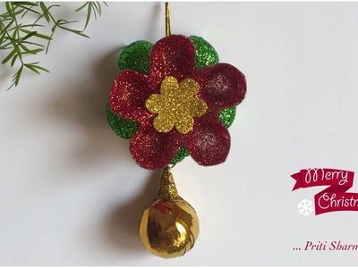 DIY Christmas Decoration From Plastic Bottle. Christmas Flower | Priti Sharma