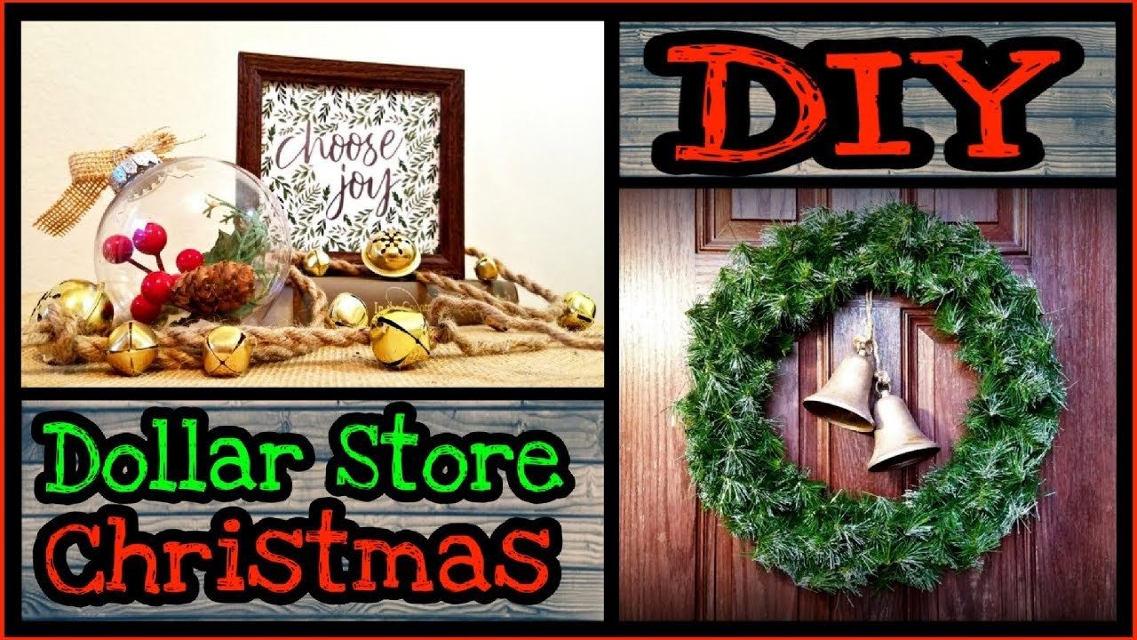 DIY Christmas Farmhouse Decor. Dollar tree DIY Christmas decorations