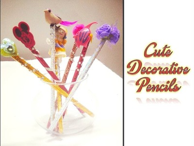 DIY Cute pencils.How to decorate pencils easily.Cutest Stationary ideas