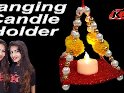 DIY Diwali Decoration Ideas | Hanging Tea-Light Holder | JK Arts 1502