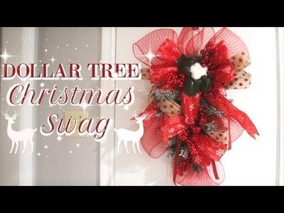 DIY DOLLAR TREE CHRISTMAS SWAG | CHRISTMAS DECOR 2018 | HOW TO MAKE A SWAG