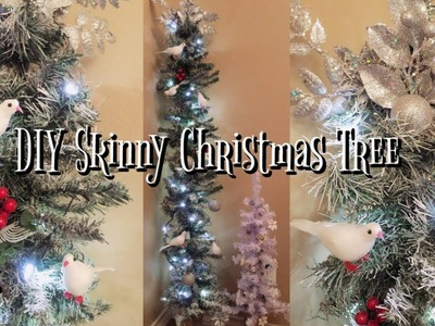 DIY Dollar Tree Snow White Christmas Tree | Skinny Charlie Brown 5.4 Ft. Tall Tree