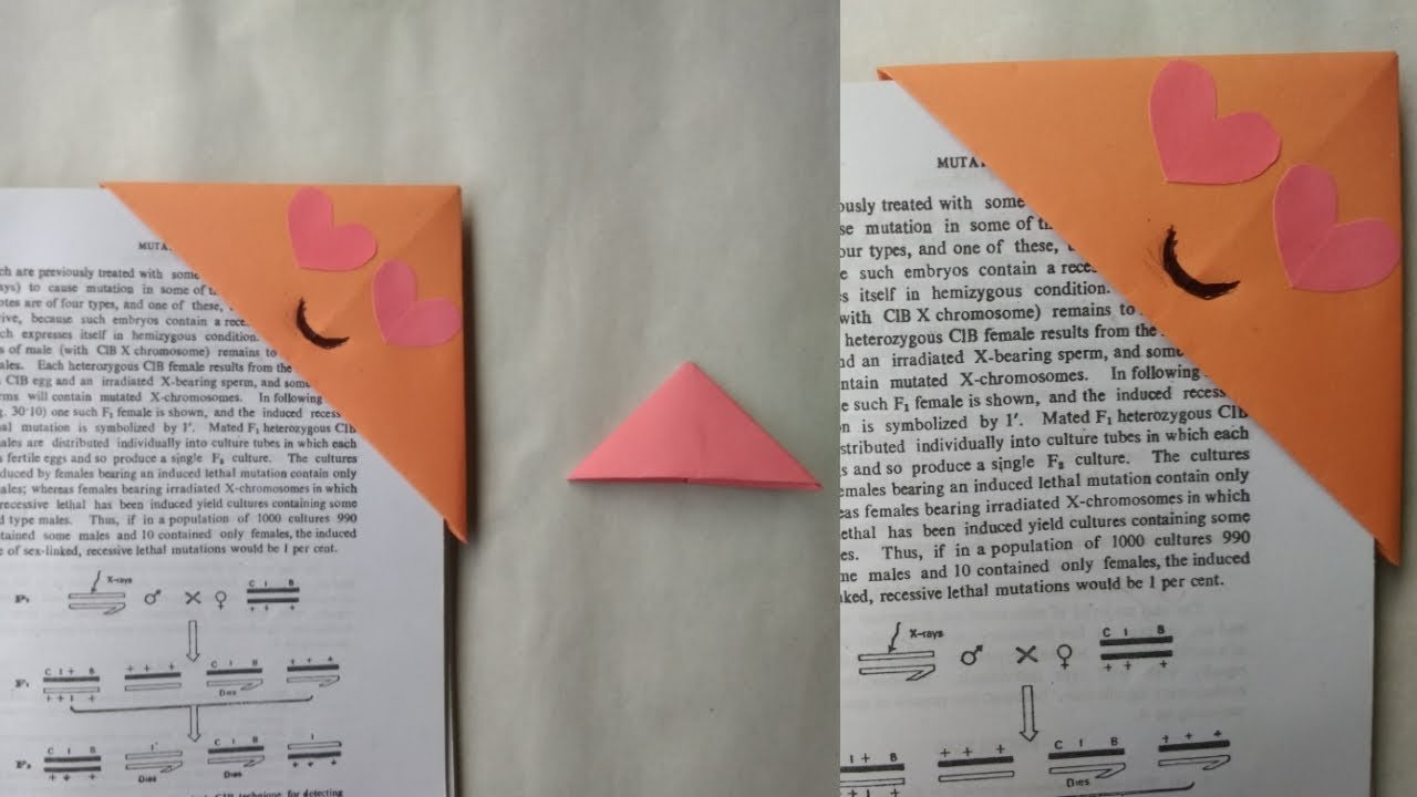 how to make a corner bookmark easy