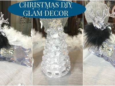 DIY GLAM DOLLAR STORE CHRISTMAS DECOR | FAST AND EASY CHRISTMAS DECOR IDEAS