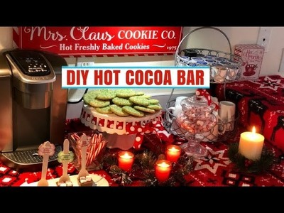 DIY Hot Chocolate Station | Hot Cocoa Bar! 12 Days of Christmas {Day 7}