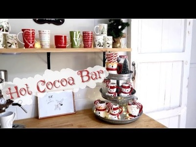 DIY HOT COCOA & COFFEE BAR   DECORATE WITH ME   CHRISTMAS 2018   MICHELLE K