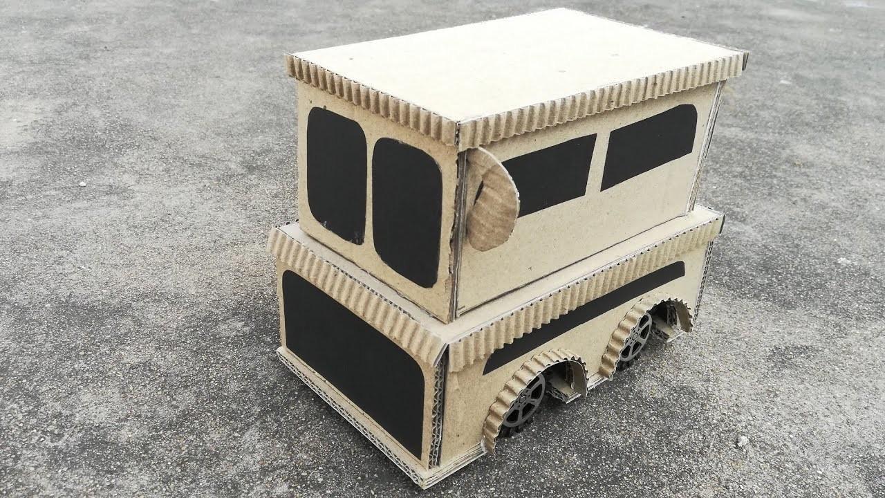 DIY Luxury Double Decker Bus | How to Make a Hi-tech Double Decker Bus Easy