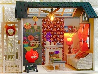 DIY Miniature Dollhouse Halloween Dollhouse Room (Kit Bash)