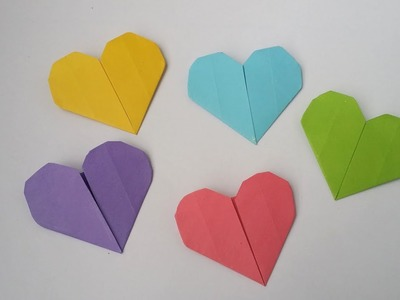 DIY: Origami Heart!!! How to Make Easy Paper Heart With Colour Paper!!!