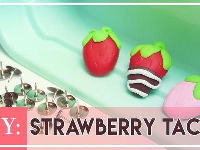 DIY Polymer Clay Strawberry Tacks | Marielitai Gaming