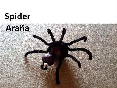 DIY Scary Spider - #Araña Manualidades Halloween