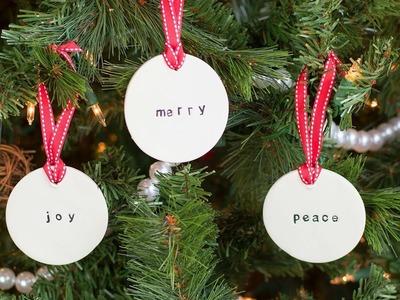 DIY Simple Farmhouse Clay Ornaments