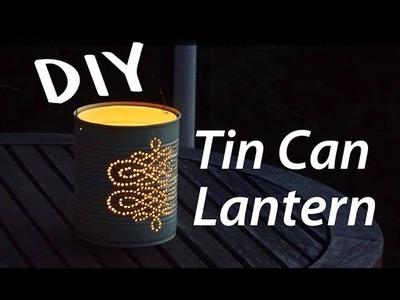 DIY Tin Can Lantern. How To