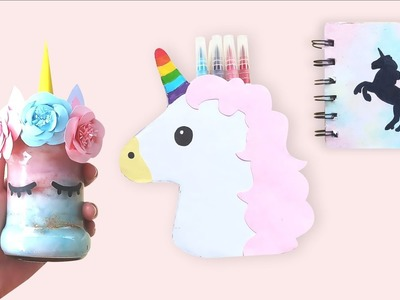 DIY UNICORN! DIY Room Decor and Notebook - DIY Dekorasi Kamar dan Buku Unicorn