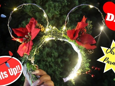 DIY |  WIRE MINNIE MOUSE EARS (LIGHT UP) Holiday Edition